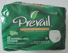 "PREVAIL Extra Absorbency Underwear Youth Sm Adult 20"" - 34"" QTY 19"