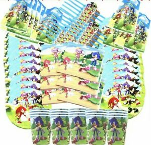 Sonic The Hedgehog Birthday Party Kids Tableware Cartoon Party Decoration Game