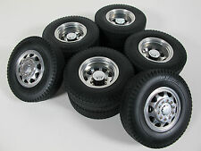 TAMIYA RC 1/14 ALUMINUM FRONT & REAR TRUCK WHEEL RIM TIRE SEMI TRACTOR TRAILER