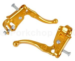 Dia-Compe reissue Tech 3 old school BMX bicycle Brake Lever Set GOLD