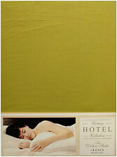 DOUBLE BED FITTED SHEET 400 THREAD COUNT OLIVE GREEN 100% EGYPTIAN COTTON LUXURY