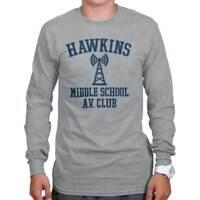 Hawkins Middle School AV Club Funny Gift Cool Stranger Things Long Sleeve Tee