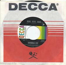 BRENDA  LEE * 45 * Ride, Ride, Ride * 1967 #37 POP * MINT * Decca ORIG NOS STOCK