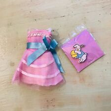 Doll Dress Easter 2 Pieces Set Bunny Charm Bag Fits 8 Inch Dolls Tiny Betsy