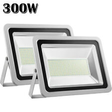 2X 300W Led Flood Light Cool White Outdoor Garden Landscape Security Spot Lamp