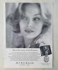 1961 Myrurgia Maja Barcelona Spain perfume bottle woman Primeval in you ad