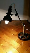1930-40s Antique Singer SLF-2 articulated steampunk industrial desk table lamp