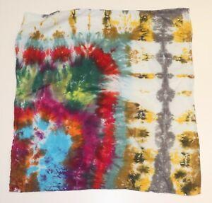 """Tie Dye Bandana 21"""" x 21"""" Green Urban Swamp 100% cotton"""