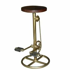 Bar Stool,Indian Handcrafted Stylish  Bicycle Bar Stool,Gold Plated wooden seat