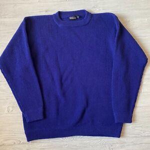 Patagonia vintage blue wool blend knit long sleeve Sweater Mens Size large