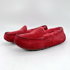 UGG  Moccasin Slippers Drivers S/N 1106878 Red Winter Shoes Women Size 8
