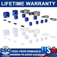Braided Hose Stainless Steel Blue Engine Dress Up Kits Radiatorvacuumfueloil