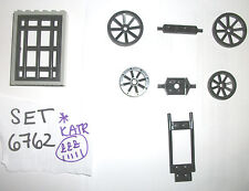 Black Wagon Wheels 2397 4489 2470 4071 4611 4 LEGO SET 6762 6769 6716 6765 6418