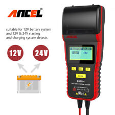 ANCEL 12V 24V Heavy Duty Truck Automotive Car Battery Load Tester With Printer