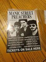 Manic Street Preachers Early 1993 Tour Promo Flyer Original
