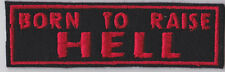 BORN TO RAISE HELL PATCH BIKER TRIKER MOTORCYCLE SEW ON BUY 5 PAY FOR 4!!