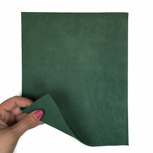 Dark Green 8x10in/20x25cm Leather Sheets // Soft Leather Pieces // Velour Mater