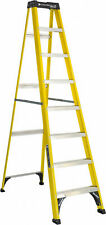 Fiberglass Step Ladder 8 Foot Electrical Maintenance Aluminum Durable Steps New