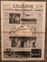 N171 La Une Du Journal Excelsior 22 Mai 1927