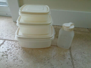 Rubbermaid Servin Saver Square Container Almond Lid #1 #2 #3 10 Cup Water Bottle