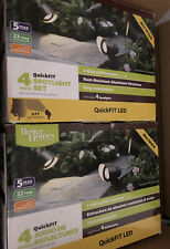 New listing Better Homes & Gardens 4 Piece Quickfit Led Spotlight/Lot 2 Sets + 10' Extension