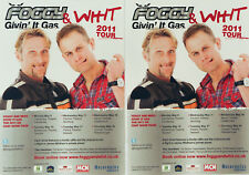 CARL FOGARTY JAMES WHITHAM 2011 TOUR FLYERS - FOGGY & WHIT - SUPERBIKE RACER