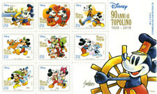 Disney Italy 90th Anniversary of Mickey Mouse Mnh sheetlet 8 stamps New