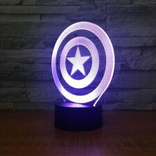 Marvel's Captain America's Shield 3D LED Night Lamp