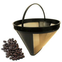 KQ_ FP- Durable Stainless Steel Coffee Maker Filter Pour Over Dripper Non-slip S