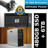 HP Workstation Z800 2x Xeon X5680 12-Core 3.33GHz 96GB DDR3 6TB HDD &  480GB SSD