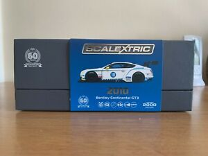 Scalextric Bentley Continental GT3 60 Anniversary C3831a DPR.