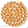 "4/6/8/10/12/14mm Rare Natural Champagne Imperial Topaz Round Loose Beads 15"" AAA"
