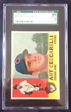 1960 TOPPS ART CECCARELLI CHICAGO CUBS #156--SGC 88=8=NEAR MINT-MINT--CENTERED!