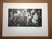 """Peggy Bacon Antique 1939 PRINT """"Pity the Blind"""" vintage print"""
