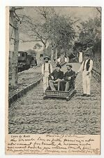 PORTUGAL Costumes coutumes carro do monte homme train chaise