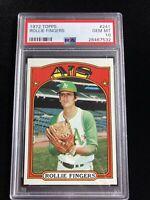 1972 Topps #241 Rollie Fingers HOF Oakland Athletics PSA 10