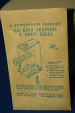 ROUNDHOUSE MODEL DIE CASTING AUTO COUPLERS WITH DRAFT GEARS HO USA VINTAGE TRAIN
