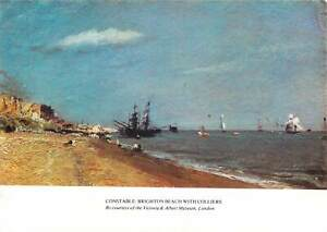 Postcard Artist signed painting Constable Brighton beach with Colliers London