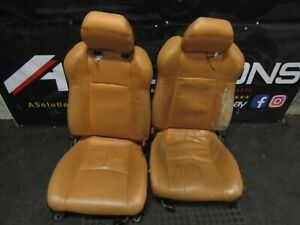 2003-2008 Nissan 350Z Driver+Passenger Side Orange Leather seats
