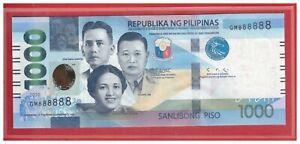 NEW Enhanced 2020 PHILIPPINES 1000 Peso NGC Duterte & DIOKNO Solid GM 888888 UNC