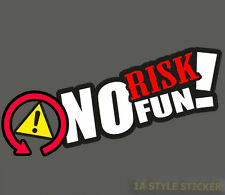 no risk no fun Aufkleber esp dsc off drift aufkleber tuning fun sponsoren decal
