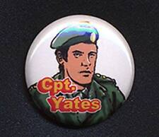 CPT.YATES  - DOCTOR WHO SUGAR SMACKS 'TRIBUTE' 25mm small badge button pin