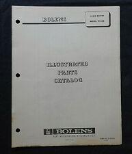 "1967 BOLENS MODEL 911-02 ""LAWN KEEPER"" RIDING MOWER TRACTOR PARTS CATALOG MANUAL"