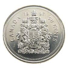1997 Canada 50 Fifty Cents Half Dollar Canadian Brilliant Uncirculated Coin F462