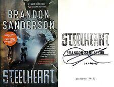 Brandon Sanderson~SIGNED & DATED~Steelheart~1st/1st BN Exclusive Edition+Photos!