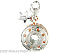 Tingle Bobbin and Thread Sterling Silver Charm with Gift Box and Bag SCH37