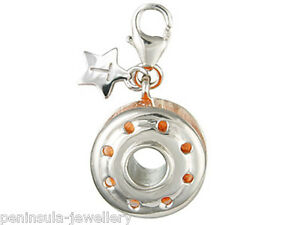 Tingle Sterling Silver Charm Bobbin and Thread with Gift Box and Bag SCH37