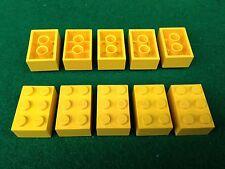 LEGO (3002) 2x3 - GIALLO GELB YELLOW , 10 Mattoncini Brick Basic Steine