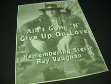 Stevie Ray Vaughan Remembering Srv 1999 full-pag magazine Photo Display Piece