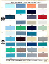 1952 1953 1954 1955 1956 1957 1958-1984 DITZLER IMPORT CAR PAINT CHIPS MANUAL 84